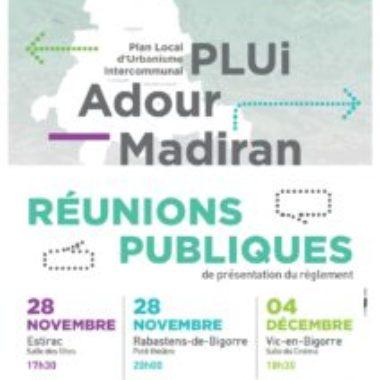 Réunion publique PLUI Madiran