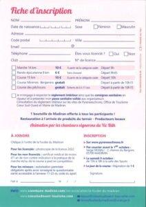 bulletin d'inscription 2021